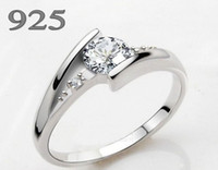 Wholesale Diamond Ring Silver Do not fade not allergic With a Certificate A97