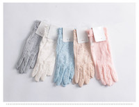 Wholesale Skin Care Anti uv Gloves Summer Female Lace Short Design Sunscreen Gloves For Women