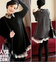 Wholesale China Fashion Spring maternity sweatershirt nuring lace dress maternity clothing Q135
