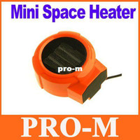 Wholesale Mini Portable Personal Ceramic Space Heater Electric V W Fan Forced Orange Free Dropshipping