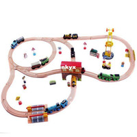 Wholesale Thomas Wooden TRAIN Train tracks wooden toy kid kids toy car toy wooden train wooden toys set track