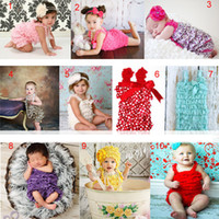 Wholesale Toddler one piece lace rompers baby girls bowknot tutu Pettiskirt shoulder straps colors sizes