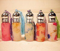 Wholesale Perfume Vial Roll on Fragrance Bottles Glass Portable Color Drawing Packing Bottle ml