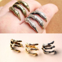 Wholesale The Antique Owl claw rings Vintage Eagle Clow fashion jewelry gift cheap unique finger ring punk new
