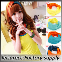 Wholesale Leisure fashion sports a wide cloth headband ribbon headdress