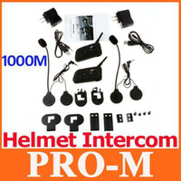 Wholesale 2 Set M Motorcycle Bluetooth Multi Interphone Headsets Helmet Intercom Riders dropshipping