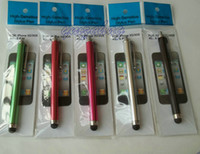 retail iphone 3g - Black white Capacitive Touch Stylus for ipad pad3 iphone4 g g s retailing package