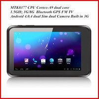 Wholesale 7 Inch MTK8377 Dual Core Ghz G WCDMA GPS FM TV GB GB HDMI Android Dual Sim Phone Tablet PC