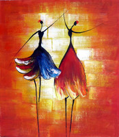 ballerina canvas painting - Hand painted Hi Q abstract art figure oil painting on canvas ballerinas angle pc set framed