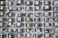 Wholesale FREE Stainless steel Men s Rings groove Silver Tone Mixed Design mm width mm R161 New