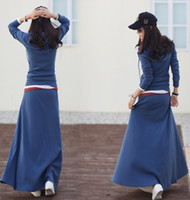 Wholesale 2013 New Arival Fashion women casual suit summer cotton long skirt sports wear sets cols F31