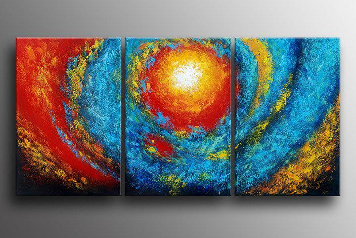 Abstract Fire Paintings Abstract Oil Painting on
