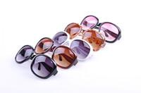 al por mayor las gafas de sol de gran tamaño-Marco grande de la moda gafas de sol de las mujeres de la vendimia plástico barato Primera marca de gran tamaño de las gafas de sol 12pcs / lot