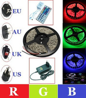 Wholesale Crazy Price RGB Led Strip Led M Non waterproof V Controller EU AU US UK Plug Transformer