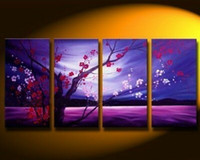 Oil Painting asian floral art - HUGE ASIAN FLORAL PLUM BLOSSOM ART oil Painting