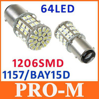 Wholesale White BAY15D SMD LED Car Tail Brake Stop Turn Light Bulb Lamp free