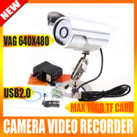 Wholesale SD Card LED IR Security Waterproof CCTV Camera USB DVR Remote Control K808
