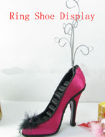 Wholesale Rings Shoes Display with hooks Earring Jewelry Displays Stand holder Jewelry organizer Resin Crafts