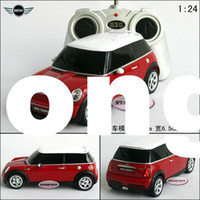 Wholesale 1 RC Starlight mini cooper s red remote control car models educational toys free air mail