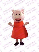 Mascot Costumes Animal Athletic & Sporty New Style Peppa Pig Mascot Costume Fancy Dress Outfit Free Shipping