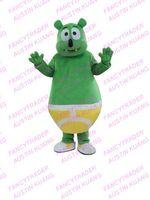 Wholesale New Arrival Green Gummy Bear Mascot Costume Fancy Dress