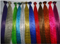 Wholesale 16 Inch Synthetic Grizzly Rooster Feather Extension Feathers Extensions kits Free Tools