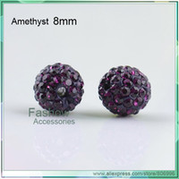 Wholesale A21558 shamballa beads popular for jewelry crystal beads mm Amethyst CPAM free good quali
