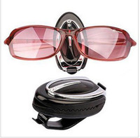 Wholesale Best seller cool design Vehicle Visor Black Glasses Sunglasses and Ticket Clip Holder