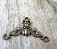 Wholesale 90pcs Ancient Bronze Alloys Lace Jewelry Connectors X12 mm
