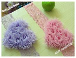 Wholesale 8pcs Baby Love Flower Elastic Lace Headband Hair band Hair Accessories for Girl Kids Headwear