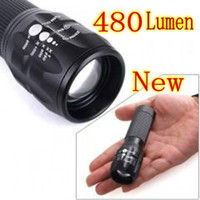 Wholesale 480LM CREE Q5 LED W Zoomable Aluminum Torch Flashlight Light Lamp Camp Fishing Bike bicycle lights