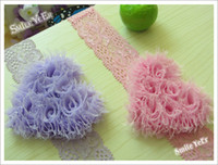 Wholesale 8pcs Baby Love Flower Elastic Lace Headband Hair band Hair Accessories for Girl Kids Headwear