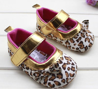 Wholesale Baby toddler shoes gold leopard print baby toddler shoes princess single shoes pair
