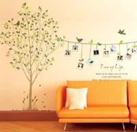 Removable PVC Animal Free Shipping~60*90cm Removable Tree Of Life Home Wall Sticker ART Decoration DM69-0031