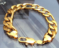 Men's 14k gold chains - 14K REAL YELLOW GOLD GF Noble MEN S BRACELET g HOT quot FIGARO CHAIN GF