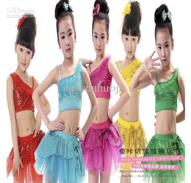 Children's Performance Clothing, Girls Costumes, Sequined Veil ...