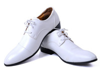 Loafers men dress shoes white leather - Breathe freely White man cusp lace up Leather shoes Business dress shoes classic Single shoes JK08