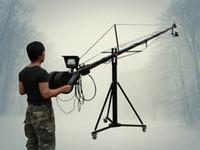 24ft Pan Tilt Head 5 kilo Jib bras caméra vidéo grue vidéo LCD Minitor Trépied Kit
