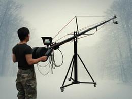 24ft Pan Tilt Head 5 kilo Jib Arm Camera Crane video LCD Minitor Tripod Kit