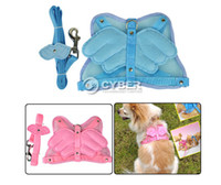 Wholesale 2 Colors Angel Wings Pet Dog Adjustable Safety Harness Mesh Leash
