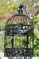Wholesale Send out within days Decorative Bird cage with Black Color Birdhouse Brand New Cage Fashion Iron Decorative Birdcage