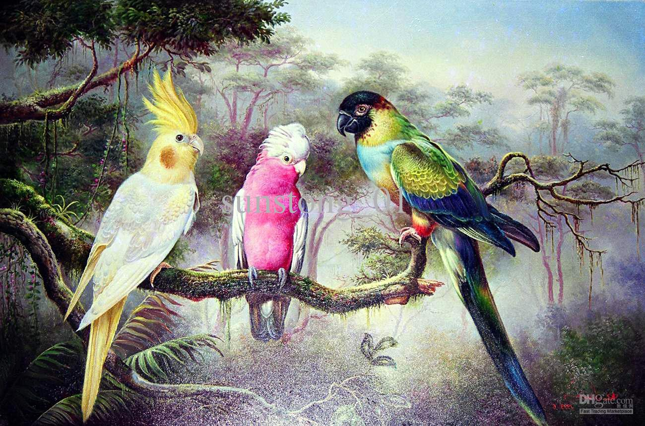 The gallery for colorful animal paintings for Animal oil paintings