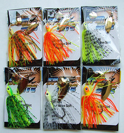 Buzzing Spinner Lures Bait Lead Head Silicone Skirt Fishing Lures 1 4 OZ or 3 8 OZ mixed