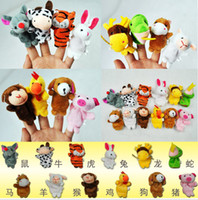Wholesale 60pcs bags animals zodiac Cartoon Animal Finger Puppet finger doll Animal doll CPAM