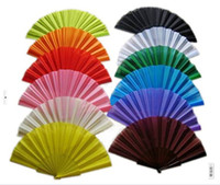 Cut assorted inlays - Plain Spanish Plastic Fabric Hand Foldable Fan for Ladies Men Inch Assorted pieces