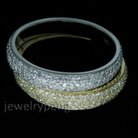 Women's 14kt gold jewelry - Jewelry Solid kt Two Tone Yellow White Gold Ct Pave Engagement Diamond Wedding Band Ring