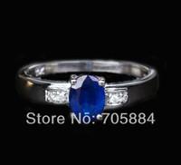 Women's 10k gold ring - 0 ct Ceylon Blue Sapphire K White gold Diamond Engagement Promise ring g