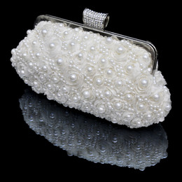 Wholesale In Stock No Risking Wedding Accessories pearls Floral Party Prom Hand bags Bridal Hand Bags BH12