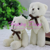 Wholesale CM Mini Bow Tie Stuffed Jointed Teddy Bear Flower Packing Joint Bear Colors