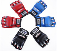 Wholesale 4COLOR Top quality New MMA Boxing Gloves Sanda Muay Thai Training Fighting Mitts W8861 gt WQ